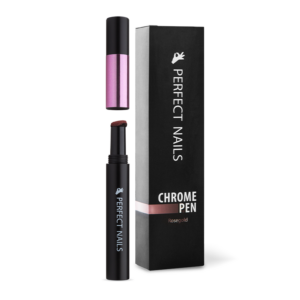 Perfect Nails Chrome Pen - Krómpor Körömdíszítő Toll - Rosegold