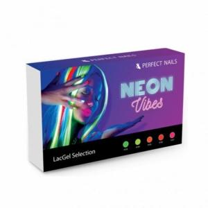 Perfect Nails LacGel Neon Vibes Gél Lakk Szett 5*8ml