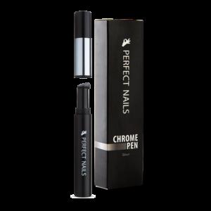 Perfect Nails Chrome Pen - Krómpor Körömdíszítő Toll - Ezüst