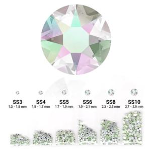 Pearl 6in1 strasszkő szett - Crystal Aurora Boreale