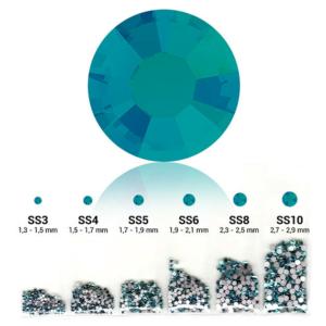 Pearl 6in1 strasszkő szett - Blue Zircon
