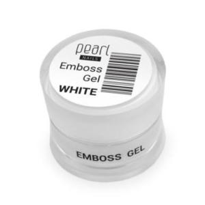 Pearl Emboss Gel - FEHÉR 5ml