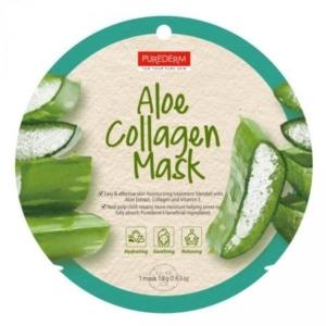 PureDerm Aloe Vera bőrnyugtató maszk