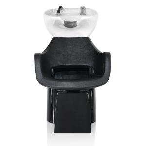 Indi fejmosó fekete talppal és fekete székkel