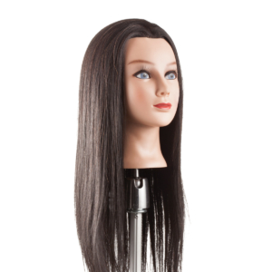 Babafej hosszú kevert hajjal 45-50cm BARNA