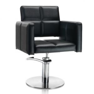 Hair Diamond fekete fodrász szék - kör talppal