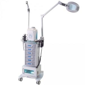 Modular kezelőgép állvány gőzölővel és nagyítós lámpával