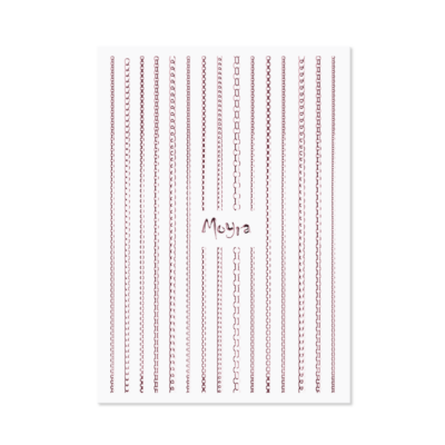 Moyra Körömdíszítő Csík Chain 03