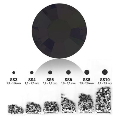 Pearl 6in1 strasszkő szett - Black