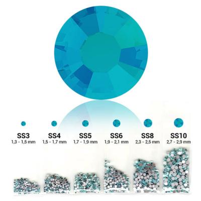 Pearl 6in1 strasszkő szett - Aquamarine