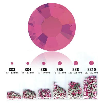 Pearl 6in1 strasszkő szett - Rose