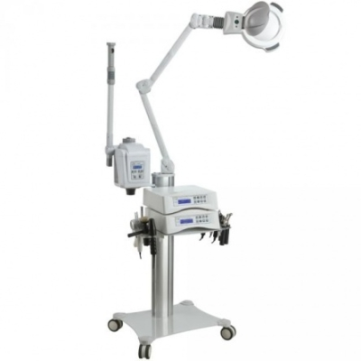 Modular Plus kezelőgép állvány gőzölővel és nagyítós lámpával
