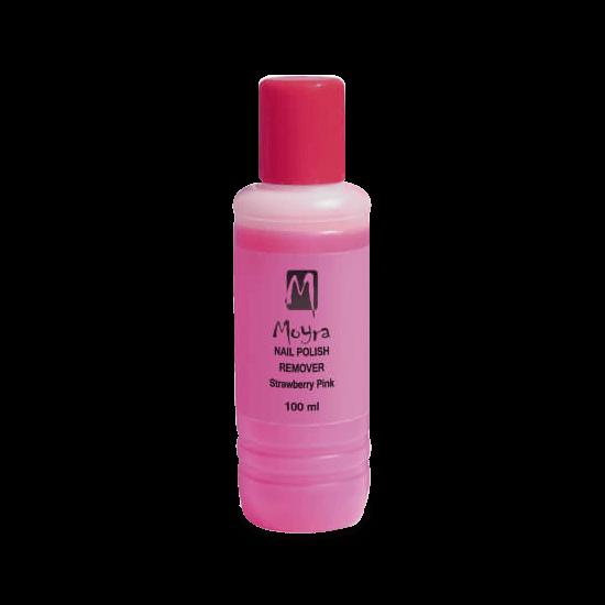 Moyra Acetonmentes Körömlakklemosó (Eper illatú) 100 ml