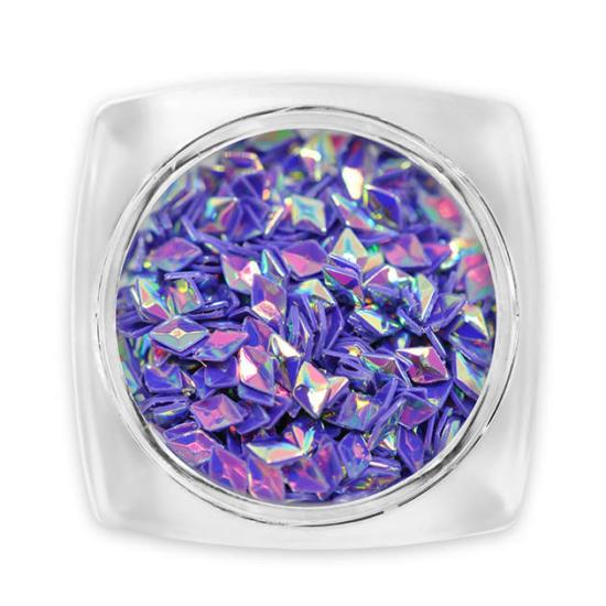 Pearl 3D Gyémánt flitter - violet G7