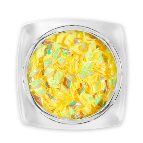 Pearl 3D Gyémánt flitter - sárga G12