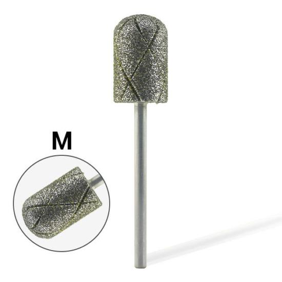 Pearl Hengeres gyémánt csiszolófej pedikűrhöz kereszt vágott (Közepes)