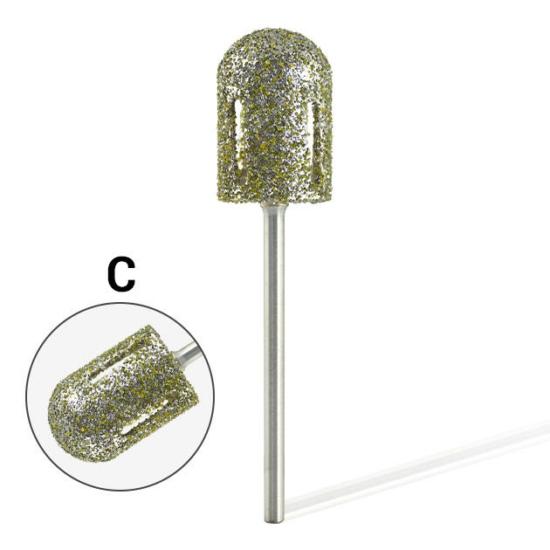 Pearl Hengeres gyémánt csiszolófej pedikűrhöz vágott (Erős)