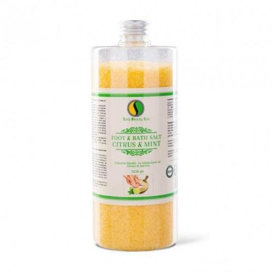SBS Fürdő- és lábáztató só - Citrus és menta 1320g