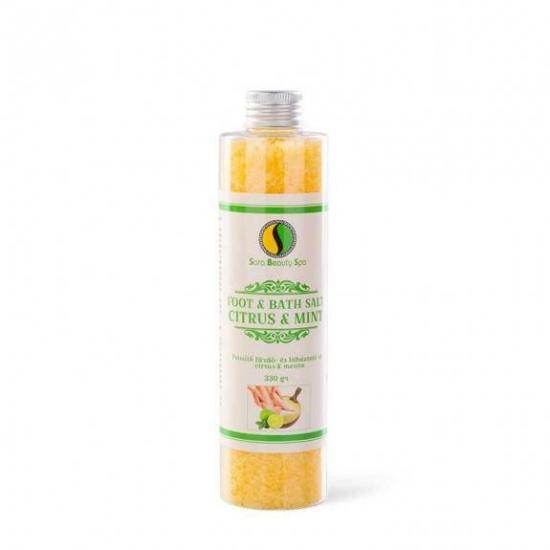 SBS Fürdő- és lábáztató só - Citrus és menta 330g