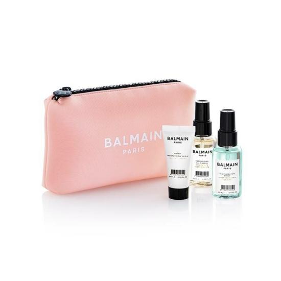 Balmain Limited Edition Cosmetic Bag Pastel Pink