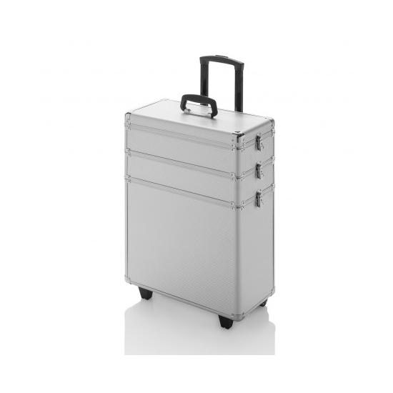 Fodrász bőrönd - gurulós