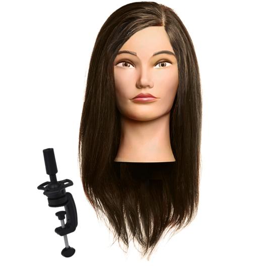 Babafej hosszú valódi hajjal 45-50cm BARNA