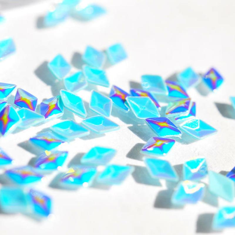 Pearl 3D Gyémánt Flitter - kék G8