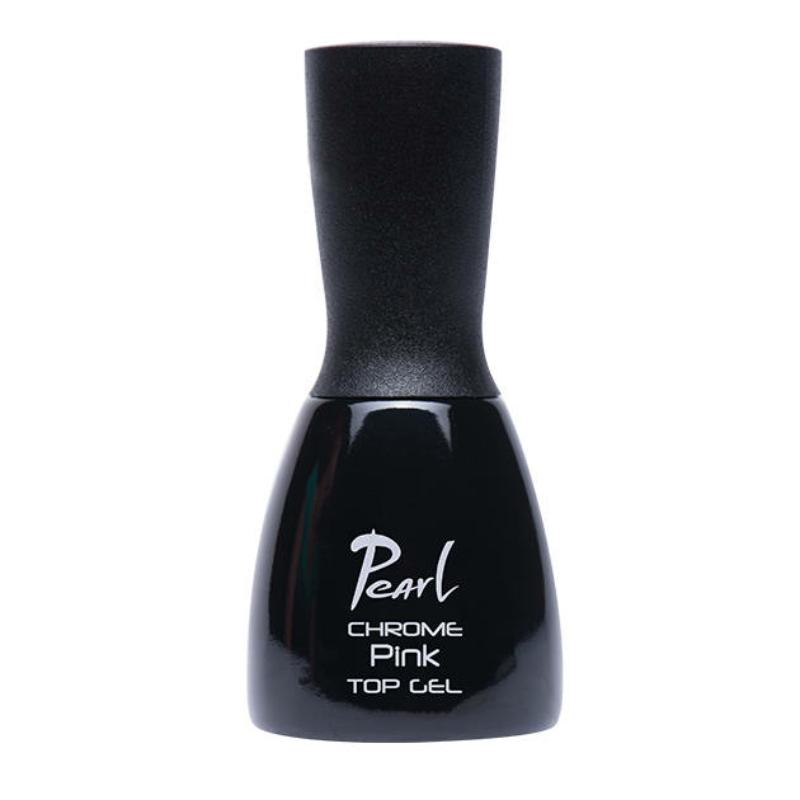 Pearl Chrome színezett fedőzselé - Pink 15 ml