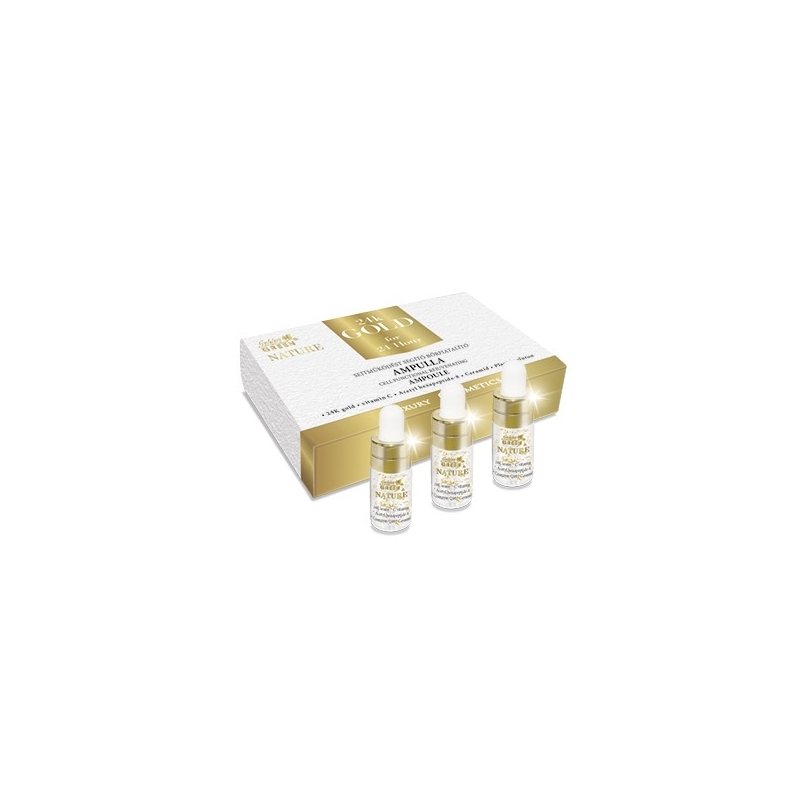 GG Nature 24K Gold Sejtműködést Aktiváló Ampulla 3*3ml
