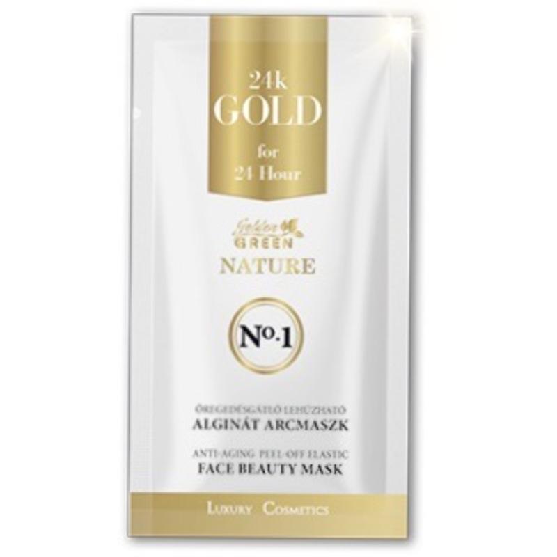 GG Nature 24K Gold Lehúzható Alginát Arcmaszk 10g +24K Gold Kolloid Aktiváló Oldat 30ml